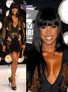 Kelly Rowland in Falguni and Shane Peacock Dress