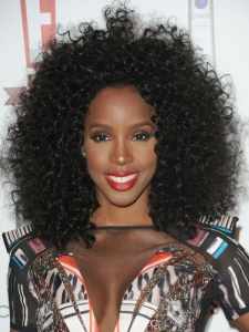Kelly Rowland Big Curly Afro