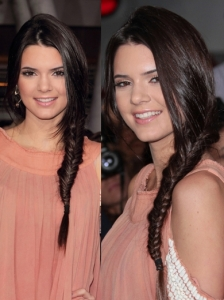Kendall Jenner Herringbone Side Braid