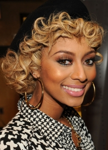 Keri Hilson Chic Copper Eye Makeup