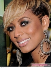 Keri Hilson Dark Smokey Eyes Makeup