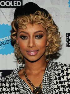 Keri Hilson's Short Blonde Curly Hairstyle