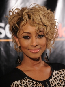 Keri Hilson Short Curly Hairstyle