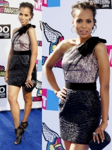 Kerry Washinton in Zuhair Murad One Shoulder Dress