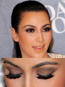 Kim Kardashian Brown Smoky Makeup