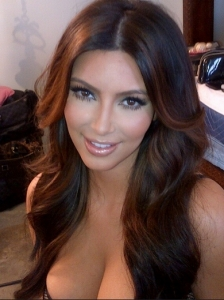 Kim Kardashian New Lighter Hair Color