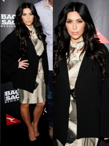 Kim Kardashian in Lisa Ho Flying Arches Dress
