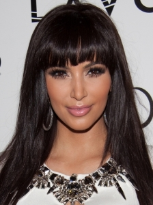 Kim Kardashian New Bangs Hairstyle