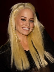 Kimberly Wyatt Front Braids Hairstyle