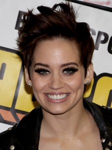 Kimberly Wyatt Brunette Short Hairstyle
