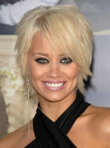 Kimberly Wyatt Shaggy Short Hairstyle