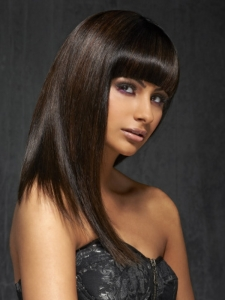 Sleek Long Black Hair Style