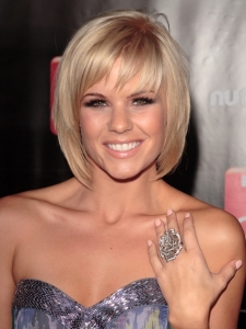 Kimberly Caldwell Short Bob with Bangs