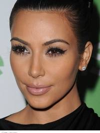 Kim Kardashian Cat Eyes Makeup