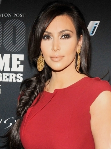 Kim Kardashian Side Braid Hairstyle