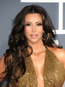 Kim Kardashian Hairstyle at the 2011 Grammy Awards