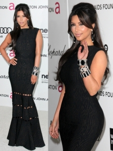 Kim Kardashian in Alaia Long Dress