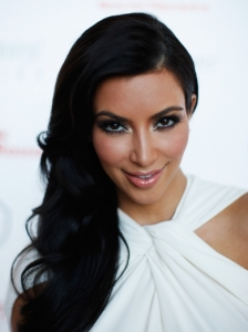 Kim Kardashian Side Swept Waves