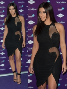 Kim Kardashian in Stella McCartney Black Dress