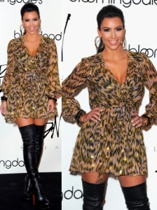 Kim Kardashian in Milly Katy Metallic Dress