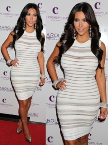 Kim Kardashian in Azzedine Alaia White Dress