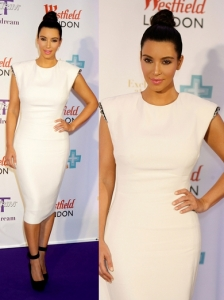 Kim Kardashian in Lanvin Crepe Dress