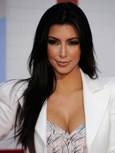 Kim Kardashion Long Straight Hairstyle