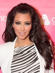 Kim Kardashian Pinned Back Hairstyle