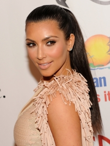Kim Kardashian Smooth High Pony Hairstyle
