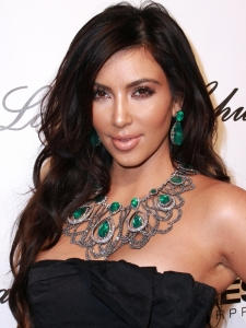 Kim Kardashian Voluminous Wavy Hairstyle