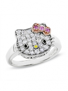 Hello Kitty Diamond Ring