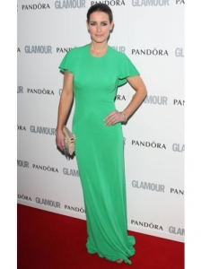Kirsty Gallacher in Green Maxi Dress