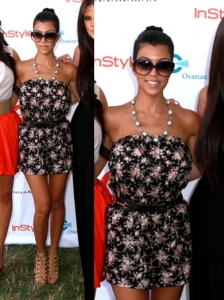 Kourtney Kardashian in Blu Moon Short Jumper