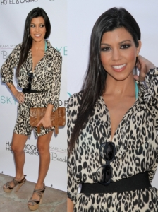 Kourtney Kardashian in Tucker Printed Dress