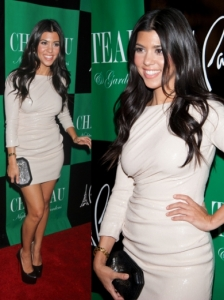 Kourtney Kardashian in Rachel Roy Sequin Dress