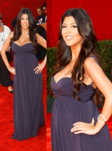 Kourtney Kardashian in BCBG Gown