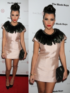 Kourtney Kardashian in Body Amyr Dress