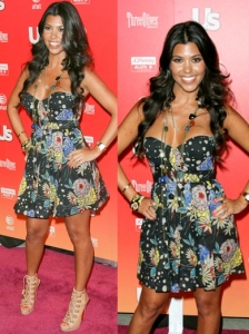 Kourtney Kardashian in Foley + Corinna Print Dress