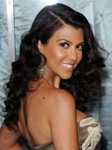 Kourtney Kardashian Glam Curly Hairstyle