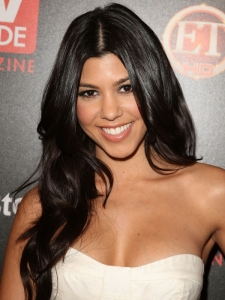 Kourtney Kardashian's Wavy Hairstyle