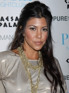 Kourtney Kardashian Half Up Half Down Hairstyle