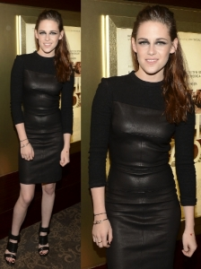 Kristen Stewart in A.L.C. Booth Leather Dress