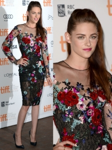 Kristen Stewart in Zuhair Murad Floral Embroidered Dress