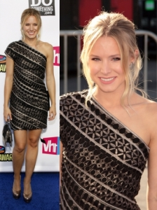 Kristen Bell in Etro One Shoulder Dress