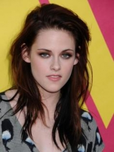 Kristen Stewart with Long Brunette Hairstyle