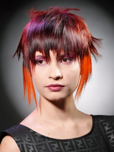 Dapper Rainbow Hair Highlights