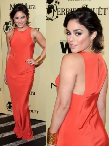 Vanessa Hudgens in Tibi Orange Maxi Dress