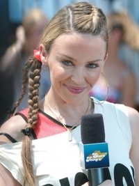 Kylie Minogue Girly Braids Hairstyle