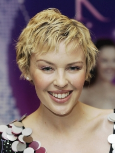 Kylie Minogue Short Pixie Hairstyle