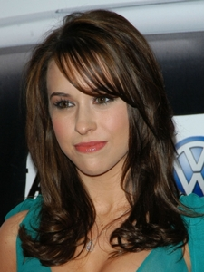 Lacey Chabert's Mid-Length Hairstyle with Bangs